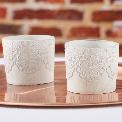 Stone Lace Votive Holders
