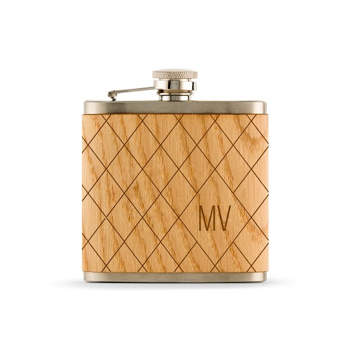 Personalized Wood Wrapped Flask