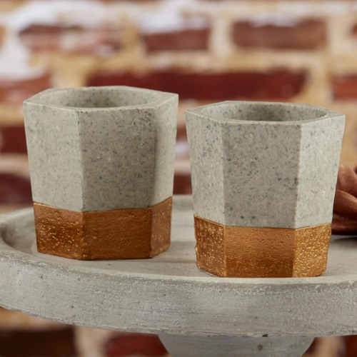 Copper and Concrete Tealight Holders