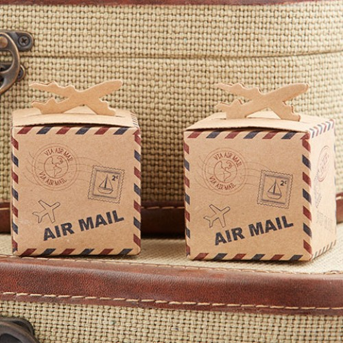 Airplane Kraft Favor Boxes