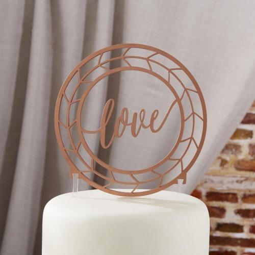 Copper Love Cake Topper