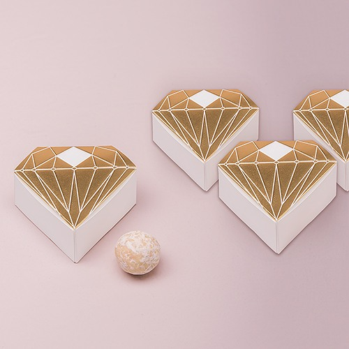 Diamond Favor Boxes