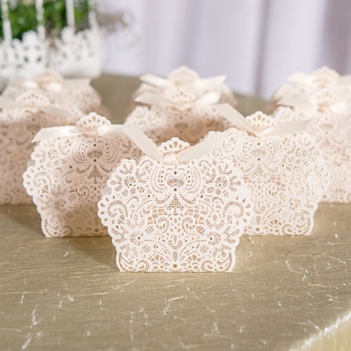 Foil Lace Favor Boxes
