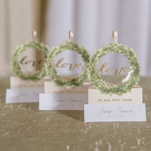 Love Wreath Favor Boxes
