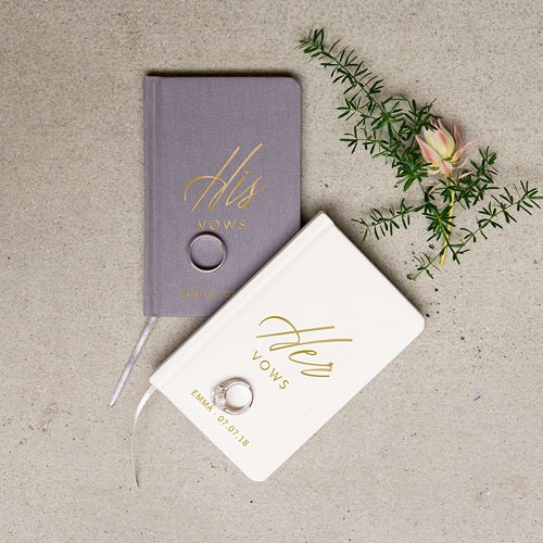Personalized Wedding Vow Journals