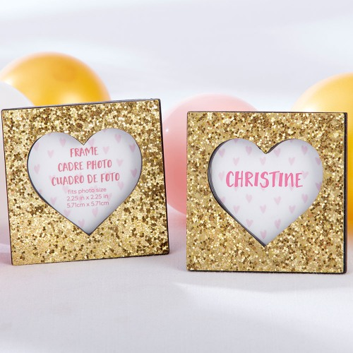 Glitter Heart Photo Frame