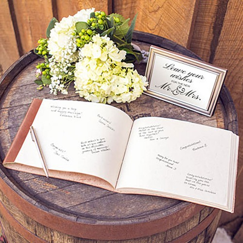 Personalized Leather Guest Book