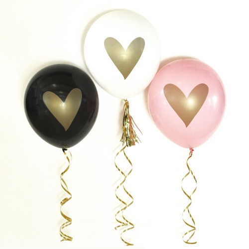 Gold Heart Party Balloons