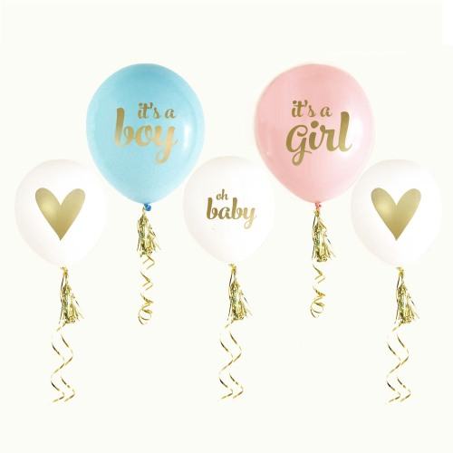 It 39 s a boy it 39 s a girl baby shower balloons for Balloon decoration for baby girl