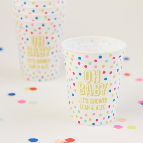 Personalized Oh Baby Full Color Stadium Cup