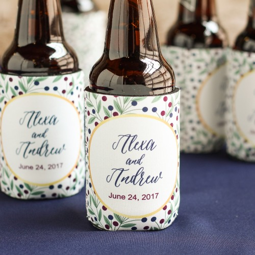 Personalized Modern Luxe Can Sleeves