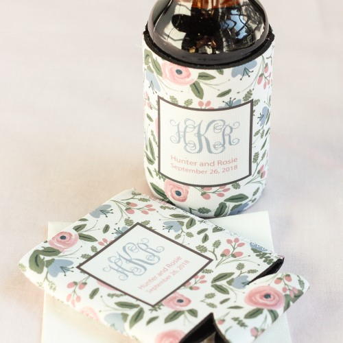 Personalized Romantic Garden Can Sleeves
