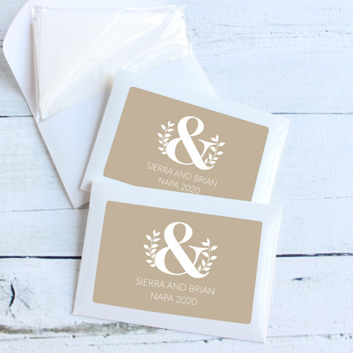 Personalized Eco Ampersand Wedding Themed Tissue Packets
