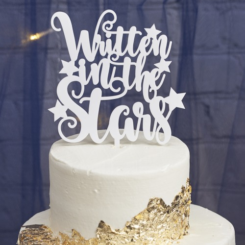 Personalized Written in the stars Cake Topper