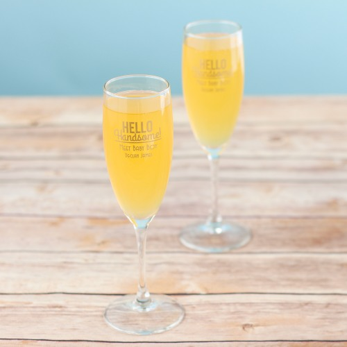 Personalized Hello Handsome Champagne Flute