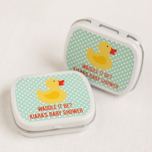 Personalized Duck Baby Shower Mint Tins
