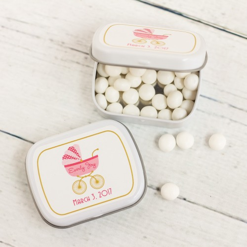 Personalized Carriage Baby Shower Mint Tins
