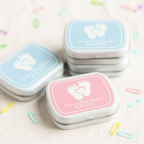 Personalized Baby Feet Mint Tins