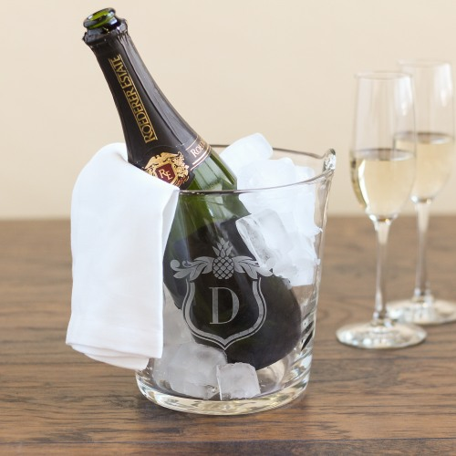Personalized Glass Ice Bucket