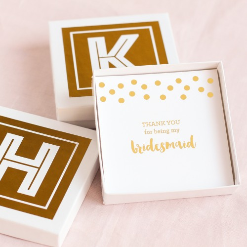 monogram gift boxes with insert