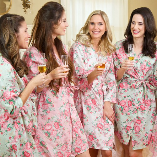 Personalized Cotton Floral Robes