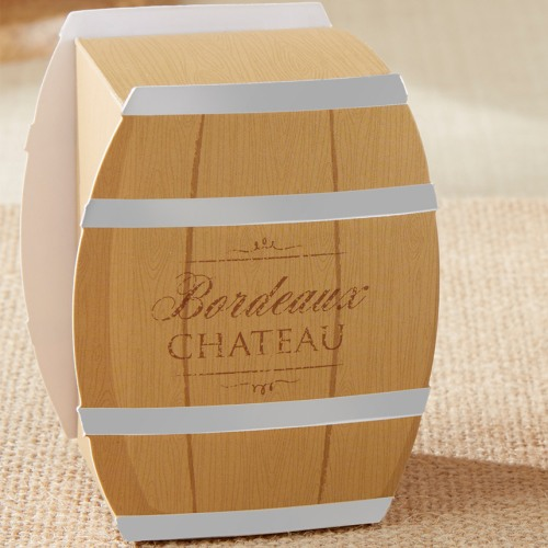 Wine Barrel Favor Box
