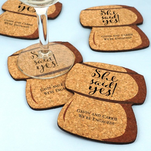 Personalized Shaped Cork Coasters