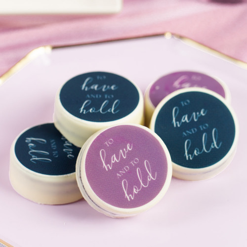 Personalized To Have & To Hold Wedding Oreos