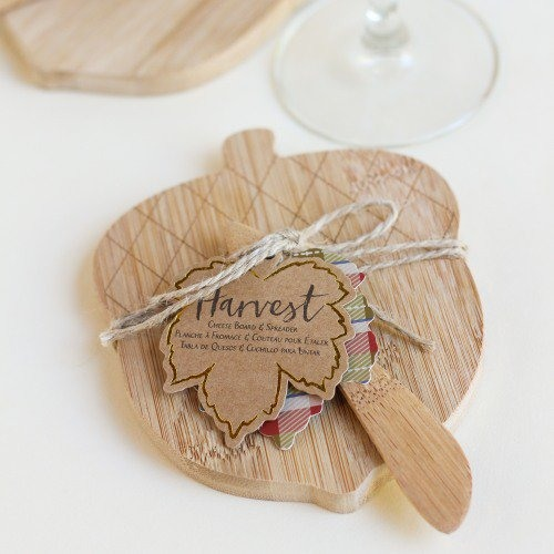 Acorn Shaped Cheeseboard and Spreader Baby Shower Favor