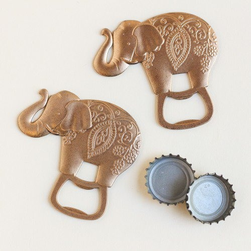 Lucky Golden Elephant Party Bottle Opener