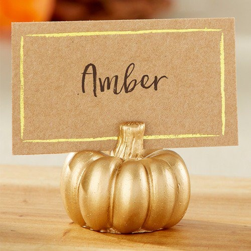 Gold Pumpkin Party Place Card Holders