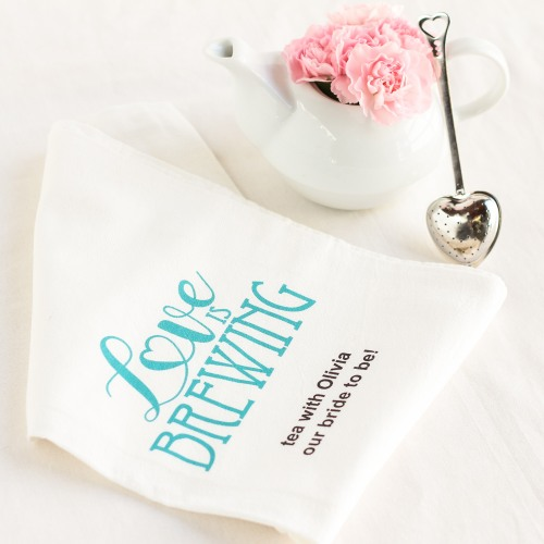 Love is Brewing Tea Towel