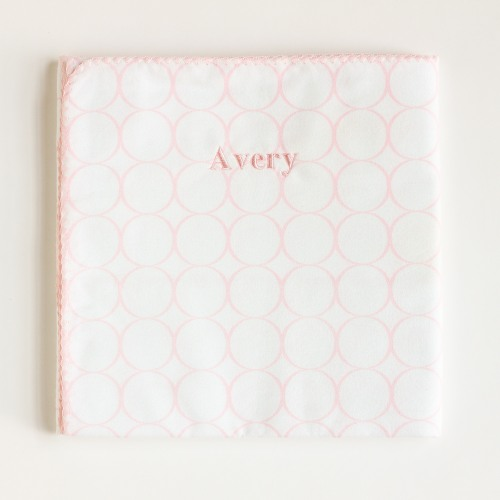 Pastel Pink Personalized Swaddling Blanket