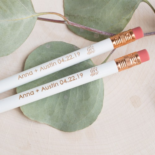 Personalized Let Love Grow Wedding Pencils