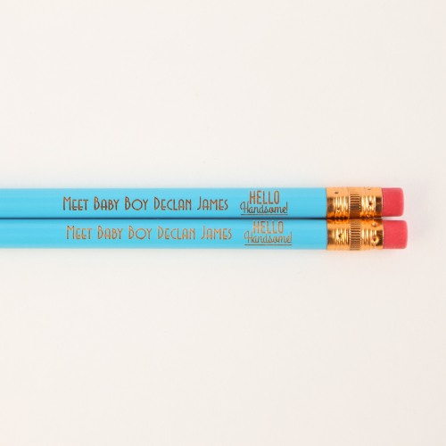 Personalized Baby Shower Pencils