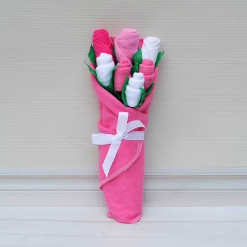 pink baby basics bouquet