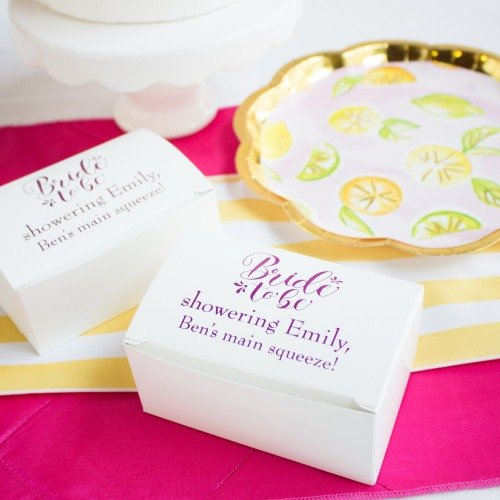 Personalized Bride to Be Cake Slice Boxes