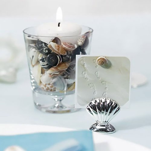 Silver Seashell Placecard Holder
