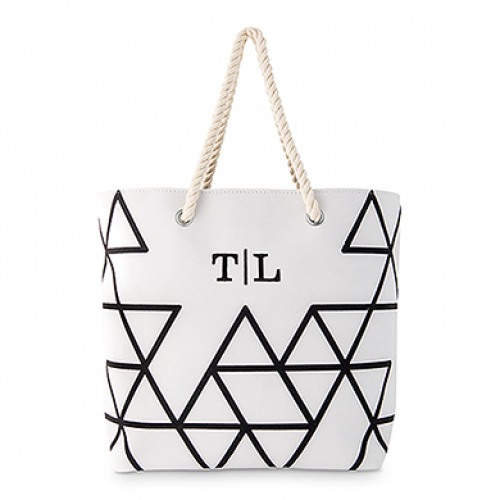 Personalized Geo Prism Tote