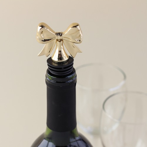 Dainty Gold Bow Bottle Stoppers