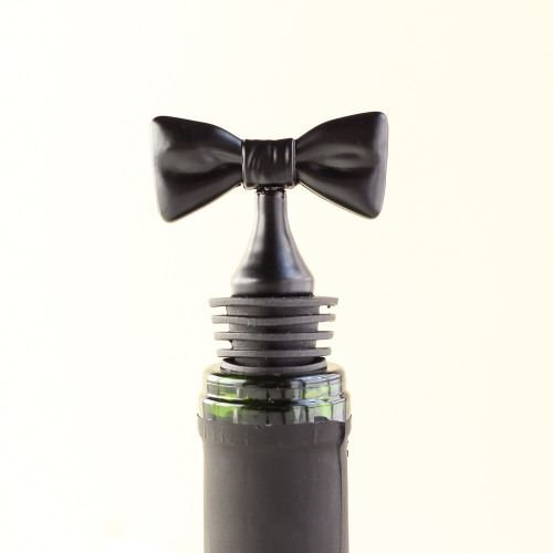 Black Bow Tie Bottle Stoppers