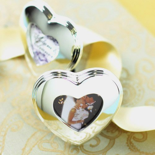 Silver Heart Shaped Picture Frames