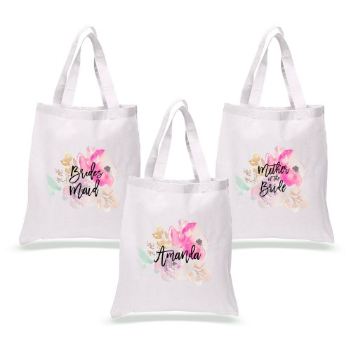 Personalized Water Color Tote Bag