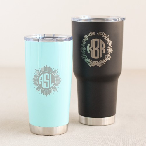 Personalized Etched Travel Tumblers