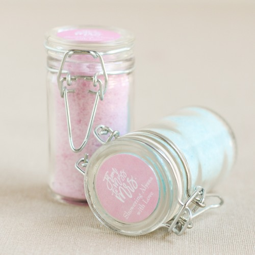 Personalized Bath Salt Favor Jar