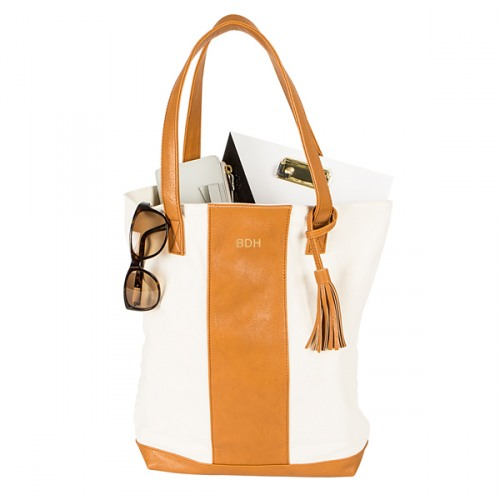 Personalized Faux Leather Weekender Tote