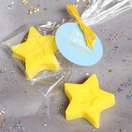 Baby Shower Star Soap Favors with personalized tag