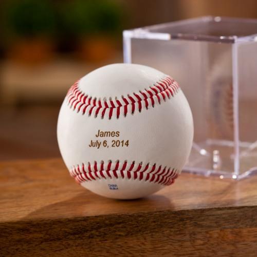 Personalized Rawlings Leather Baseball