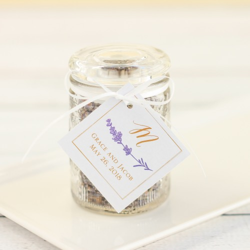 Personalized Lavender Sprig Wedding Tags
