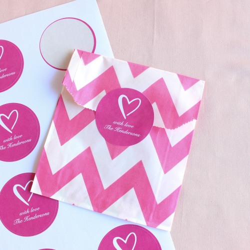 Personalized Heart Wedding Labels